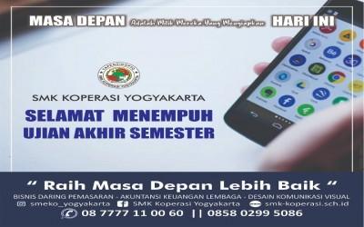 Penilaian Akhir Semester (PAS) Semester Ganjil tahun ajaran 2020/2021 SMK Koperasi Yogyakarta