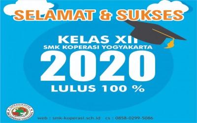 Pengumuman Hasil Kelulusan Siswa Kelas XII Tahun Pelajaran 2019/2020 SMK Koperasi Yogyakarta