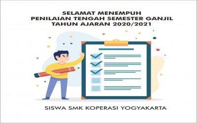 Penilaian Tengah Semester (PTS) Semester Ganjil tahun ajaran 2020/2021 SMK Koperasi Yogyakarta