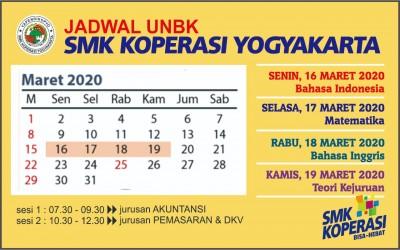 Jadwal Pelaksanaan UNBK Tahun Pelajaran 2019/2020